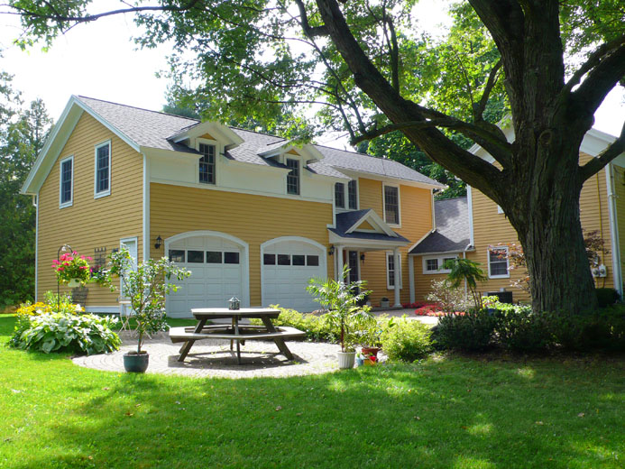 Home And Garage Addition To Historic Farmhouse