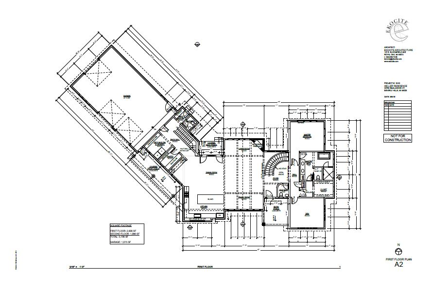 Ekocite Construction Schematic of First Floor